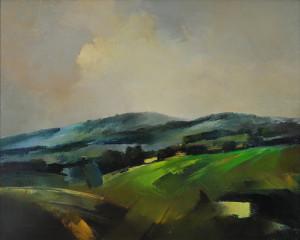 Antoszewski Sławomir, Pola, 1988, płótno, olej, 65x81 cm
