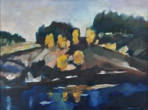 Bachurski Marek Paweł,  Cisza, 1989, olej, płótno, 54x73 cm