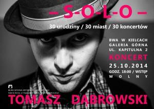 zaproszenie Koncert Solo Tomasza Dabrowskiego