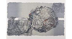 Teresa Anna Ślusarek,Moonbeam,technika  mixte, 70x100cm,2014.