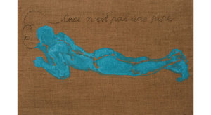 2009-To-nie-jest-fajka,-2009,-akryl,-nici,płótno,-40x60cm