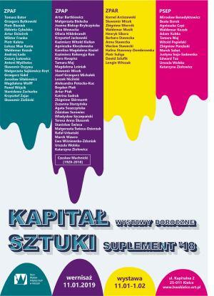 POPR.plakat RETRO Kapitał sztuki 2018-2019