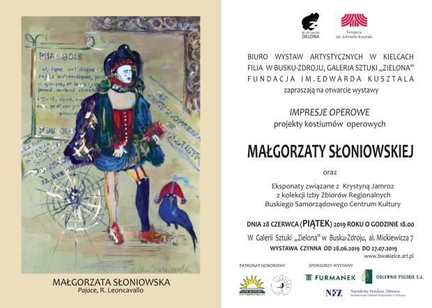 Zaproszenie  Ma³gorzata S³oniowska,  Wystawa, Impresje operowe,