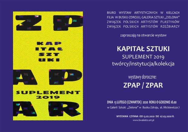 Kapitał Sztuki ZPAP, ZPAR'19 Zaproszenie