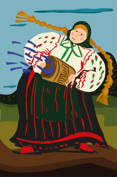 Kartka świąteczna BWA wKielcach-rys. M.Cybulska-01