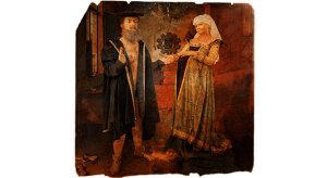 """""""Mężczyzna trzymający ciężarną kobietę za rękę"""""""