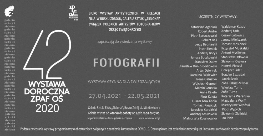 42 DOROCZNA ZPAF 2021, Zaproszenie 21.05.2020