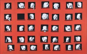 Artur Bartkiewicz Miasto - wersja nielukrowana, 2005, akryl